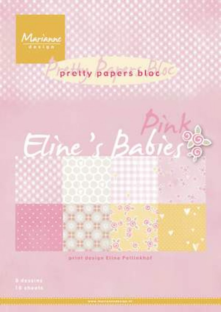 Marianne Design- Pretty Papers bloc- Eline`s Babies Pink: PB7050