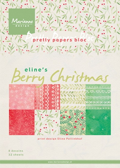 Marianne Design- Pretty Papers bloc- Berry Christmas: PB7053