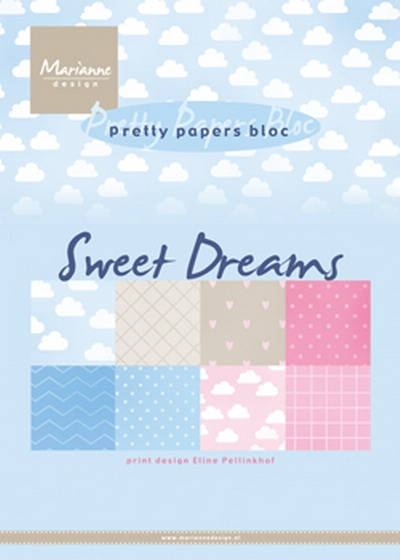 Marianne Design- Pretty Papers Bloc- Eline's sweet dreams: PB7055
