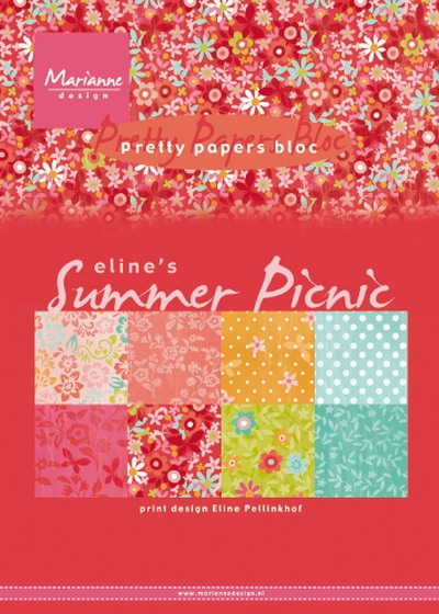 Marianne Design- Pretty Papers bloc- Eline's Summer: PB7056