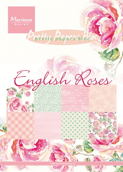 Marianne Design- Pretty Papers bloc- English Roses: PK9143