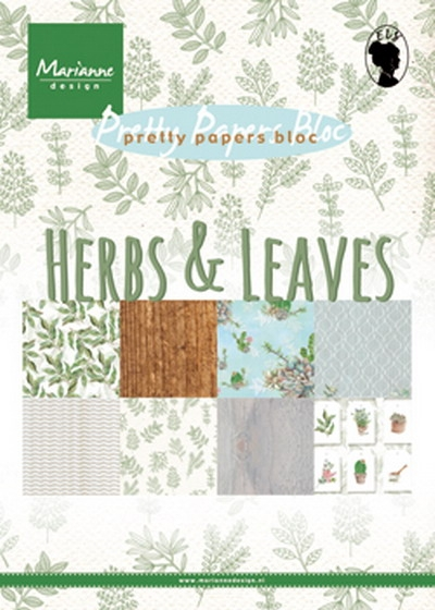 Marianne Design- Pretty Papers Bloc- Herbs & Leaves: PK9152