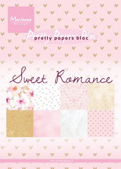 Marianne Design- Pretty Papers bloc- Sweet Romance: PK9153