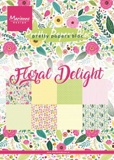 Marianne Design- Pretty papers bloc- Floral Delight: PK9161