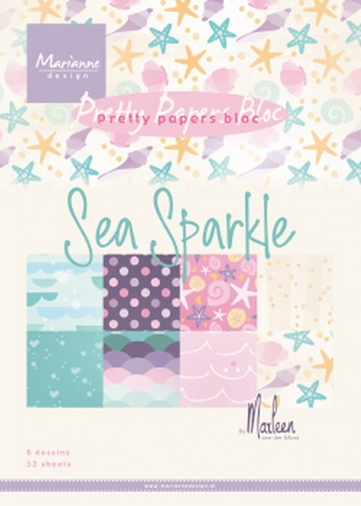 Marianne Design- Paper bloc- Sea Sparkle by Marleen: PK9163