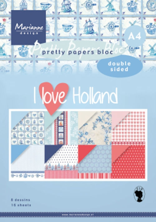 Marianne Design- Pretty Paper bloc (Dubbelzijdig)- I love Holland: PK9168