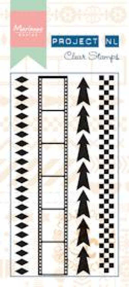 Marianne Design- Project NL- Clear stamp Border- Arrows: PL1501