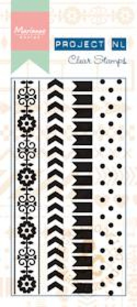 Marianne Design- Project NL- Clear stamp Border- Dots: PL1502