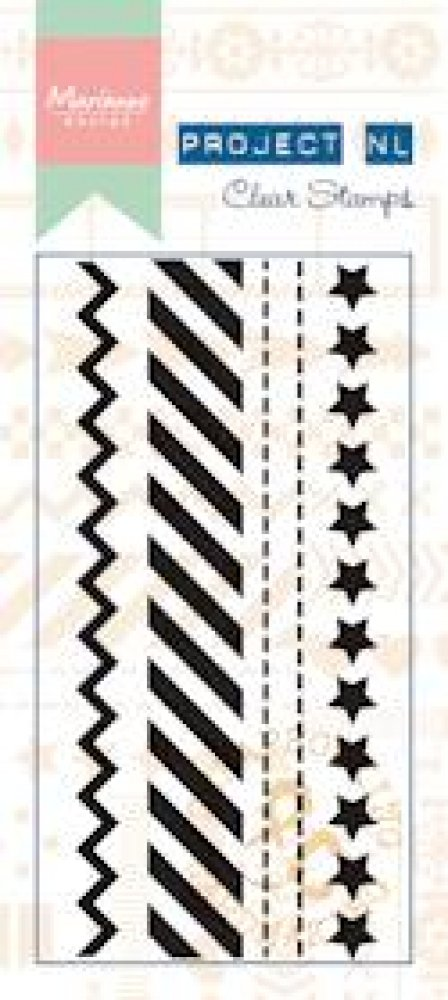 Marianne Design- Project NL- Clear stamp Border- Stars: PL1504