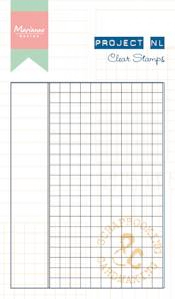 Marianne Design- Project NL- Clear stamp- Ruitjes papier: PL1512