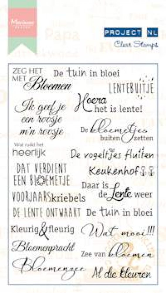 Marianne Design- Project NL-  Clear stamp- Bloemen : PL1523