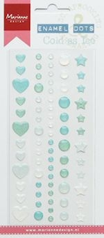 Marianne Design- enamel dots Cold as Ice: PL4511