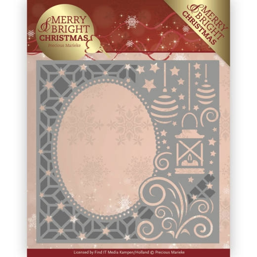 Precious Marieke- Die- Merry and Bright Christmas- Lantern Frame: PM10125
