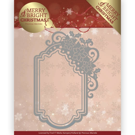 Precious Marieke- Die- Merry and Bright Christmas- Poinsettia Ornament: PM10127