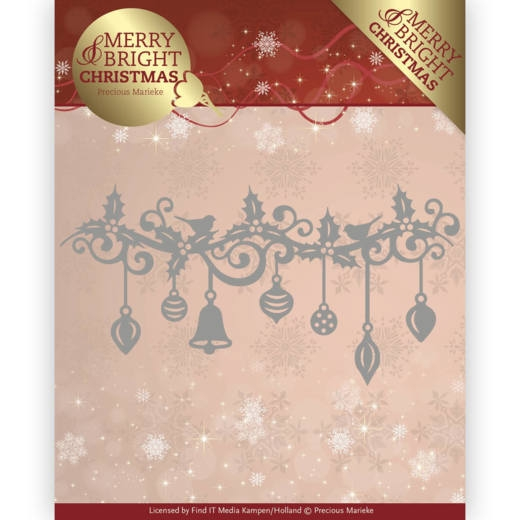 Precious Marieke- Die- Merry and Bright Christmas- Christmas Garland: PM10128