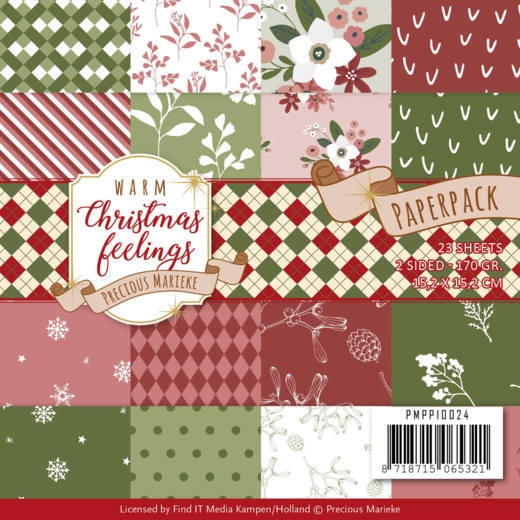 Precious Marieke- Paperpack- Warm Christmas Feelings: PMPP10024
