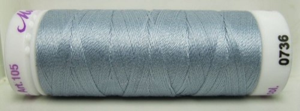 Mettler Silk Finish effen, 150 m: kleur 0736