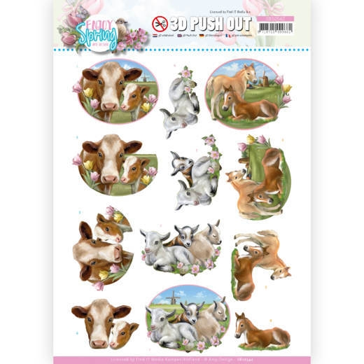 Amy Design- 3D Push Out- Farm animals: SB10542