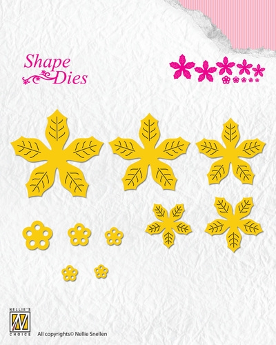 Nellie's Choice- Shape Dies- poinsettia: SD138