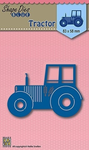Nellie's Choice- Shape dies Blue- Tractor: SDB002