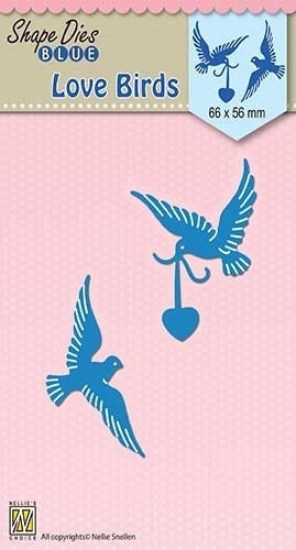 Nellie's Choice- Shape Dies Blue- Love Birds: SDB038