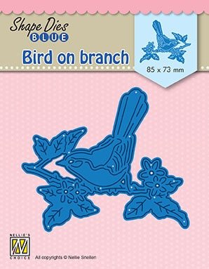Nellie's Choice- Shape Dies Blue- Bird on Branch: SDB073