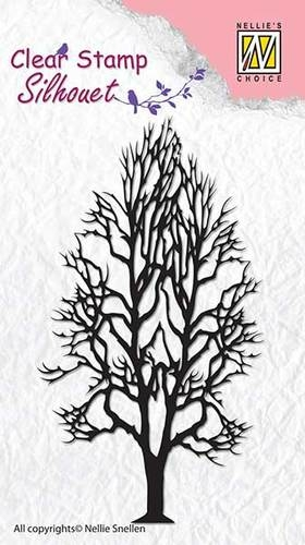 Nellie's Choice- Clearstempel- Silhouet- Tree 2: SIL008