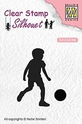 Nellie's Choice- Clearstempel- Silhouette Football player: SIL049