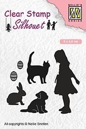 Nellie's Choice- Clearstempel- Silhouette play animal lover: SIL050