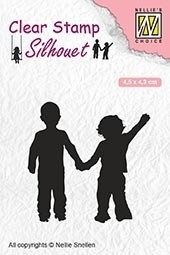 Nellie's Choice- Clearstempel- Silhouette Close friends: SIL051