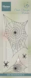 Marianne Design- Clearstempel- Tiny's border Spider Web: TC0841