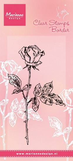 Marianne Design- Clear stamp- Tiny's Single Rose: TC0846