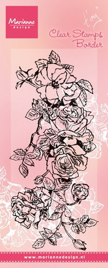Marianne Design- Clear stamp- Tiny's Border Roses: TC0847