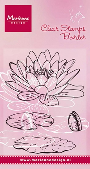 Marianne Design- Clearstempel- Tiny's Waterlily: TC0850