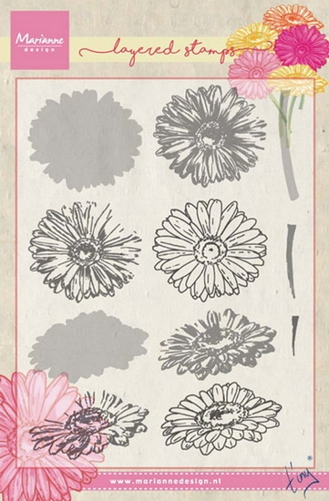 Marianne Design- Clearstempel- Tiny's Gerbera (layering): TC0853