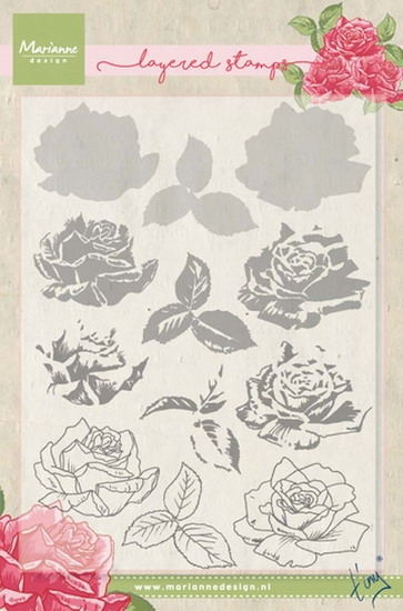 Marianne Design- Clearstempel- Tiny's Rose (layering): TC0855