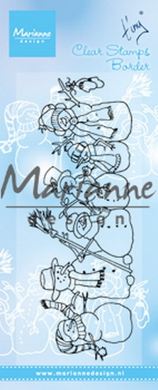 Marianne Design- Clearstempel- Tiny's border snowmen: TC0869