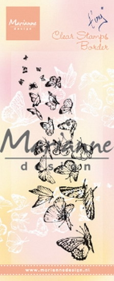 Marianne Design- Clearstempel- Tiny's border butterflies: TC0870