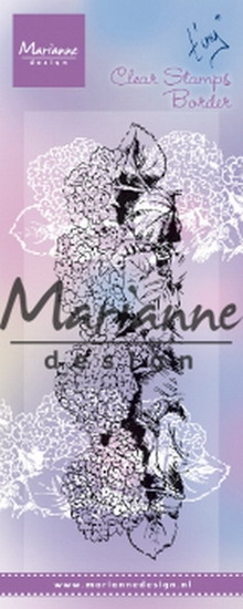 Marianne Design- Clearstempel- Tiny's border Hyndrangea: TC0871