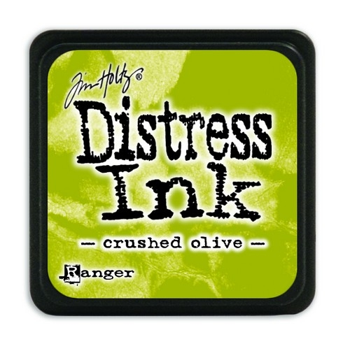 Ranger Distress Mini Ink pad- Crushed Olive- TDP39914