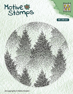 Nellie's Choice- Clear Stamps- Christmas Silhouette Mistig Bos: TXCS017
