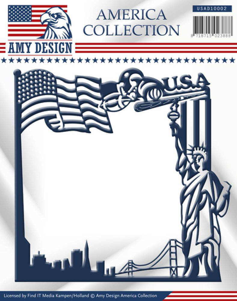 Amy Design- Die- American Collection- America Frame: USAD10002