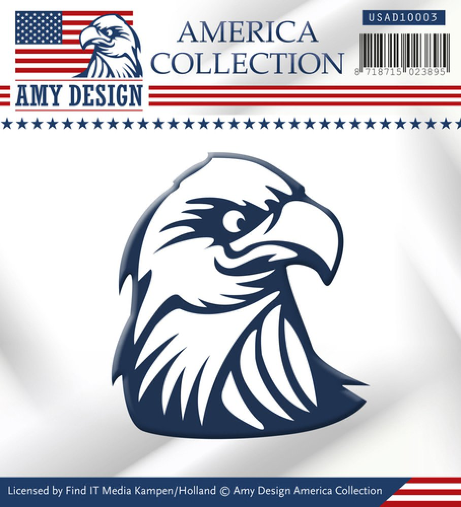 Amy Design- Die- American Collection- Eagle: USAD10003