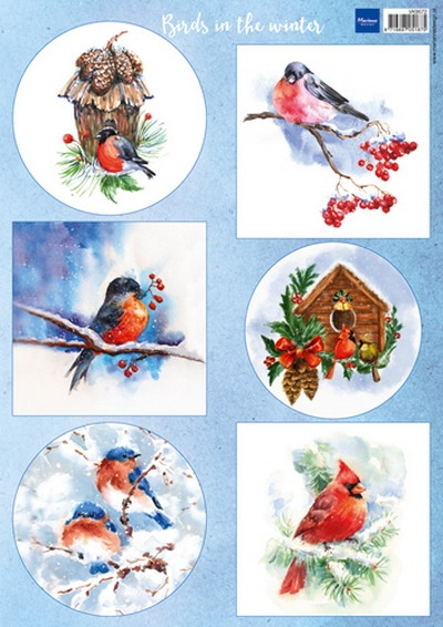 Marianne Design- Knipvel- Birds in the snow: VK9572