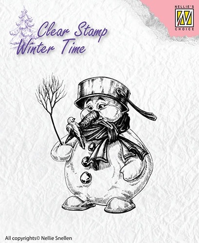 Nellie's Choice- Clearstamp- Winter Time- Snowman: WT001