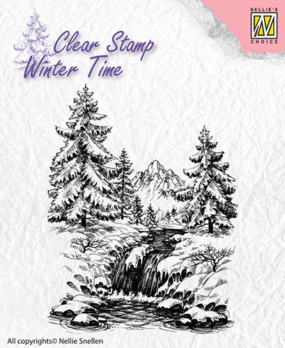 Nellie's Choice- Clearstamp- Winter Time- Winter Waterfall: WT004