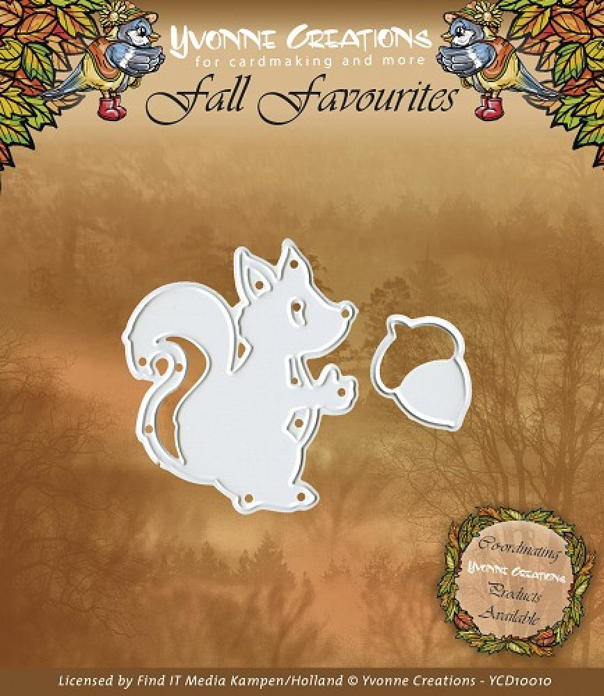 Yvonne Creations- Fall Favourites- Squirrel: YCD10010