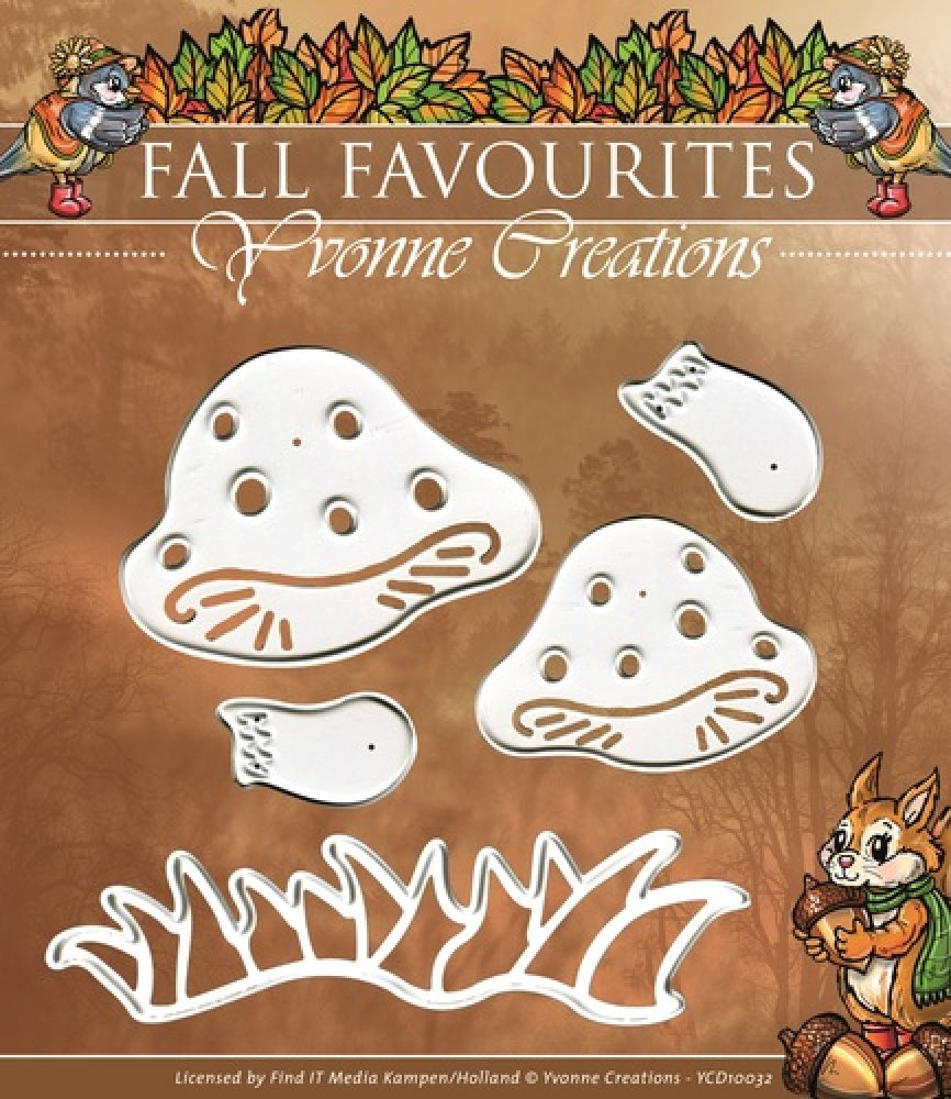 Yvonne Creations- Die- Fall Favourites- Paddestoel: YCD10032