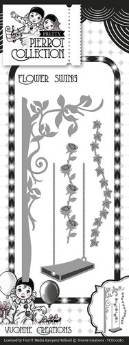 Yvonne Creations- Die- Pretty Pierrot Flower Swing: YCD10080