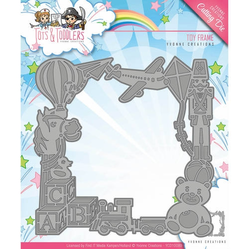 Yvonne Creations- Die- Tots & Toddlers, Toy Frame: YCD10089